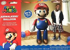 "Super Mario Brother - Mario 60"" Tall Foil Jumbo Large Huge Airwalkers Balloon"