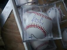 J. Brent Cox autographed Major League rawlings baseball 2005 2nd red draft pick