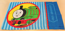 Thomas Train Tank Engine Std. Pillowcase Bedding RR Track All Aboard Blue Multi