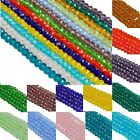 ondelle & Bicone Crystal Glass Spacer Loose Beads Charms 4 6 8 mm Wholesale