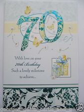 WONDERFUL WORDS COLOURFUL PRESENTS 70 70TH BIRTHDAY GREETING CARD