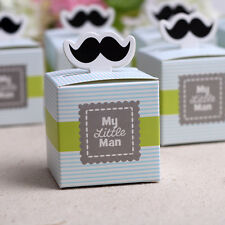 20x My little Man Mustache Baby Shower Candy Box Birthday Party Chocolate Box