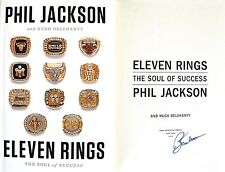 Phil Jackson~PERSONALLY SIGNED~Eleven Rings: The Soul of Success~1st/1st HC