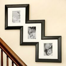 5x7 Black Ornamental Multi Photo Picture Stepframe