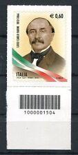 Italia 2012 Luigi Carlo Farini con codice a barre Mnh