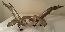 Vintage Silverplate Chinese Golden Pheasant Statues Figurines - Pair