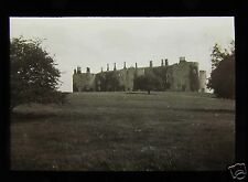 Glass Magic Lantern Slide CHIRK CASTLE  C1910 WALES WREXHAM