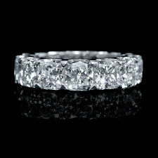 18K WHITE GOLD DIAMOND ETERNITY WEDDING BAND RING