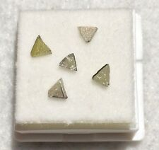 NATURAL LOOSE ROUGH DIAMOND TRIANGLE LOT GENUINE!!  (1/4CT).  L96