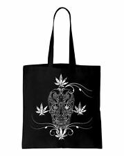 Cannabis Sugar Skull Tattoo Shoulder Bag - Goth Emo Clothing Fashion Tattoo