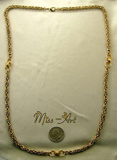 "BYZANTINE 5MM VINTAGE SOLID BRASS Blond Chain 31 1/2"" CENTER Necklace Miss-art"