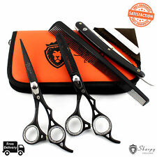 "Professional 6.5"" Hairdressing Scissors Set Barber Salon Shears kit + Free Razor"