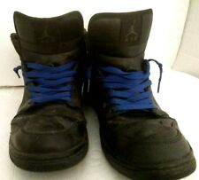 Nike Air Jordan I Shoes Trashed Used Mens 11.5 Black Blue Laces