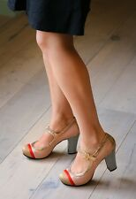 CHIE MIHARA SHOES IONA MARYJANES PLATFORM HEELS MULTI PUMP $398 ANTHROPOLOGIE
