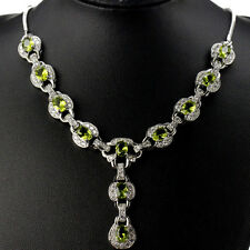 Stunning Sterling Silver Peridot White CZ AC Necklace  Weimaraner Rescue