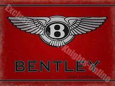 Bentley Motors 186 Vintage Garage Classic Car Advertising, Large Metal/Tin Sign