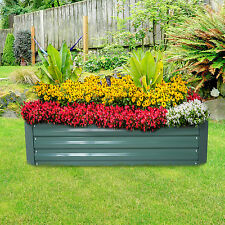 Raised Galvanized Steel  4-Panel Garden Bed Fence Garden Box Kit Set Green