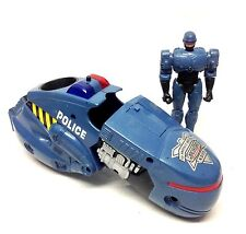 "Cult 80's Sc Fi Robocop cartoon 5"" action figure toy with motorbike vehicle RARE"