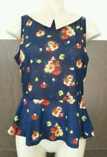 BNWT Atmosphere Ladies Girls Size 8 Blue Floral Strappy Top Sleeveless Holiday