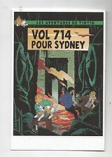Carte Postale Tintin par Pascal SOMON. Tintin Vol 714 pour Sydney. Tirage limité