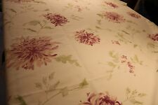 Laura Ashley Ninette Berry Curtain Fabric Printed linen mix @ £12.99