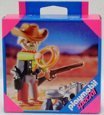 COWBOY with CAMPFIRE Playmobil Special 4665 v.`06 to Western Longhorn