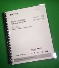 COLOR PRINTED Sony Video Camera HDR CX760 PJ710 Manual User Guide 191 Pages