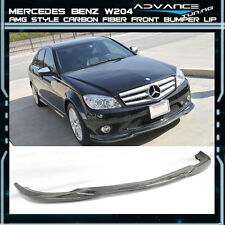 08-11 Mercedes Benz C Class W204 Sedan AMG Carbon Fiber Front Bumper Lip CF