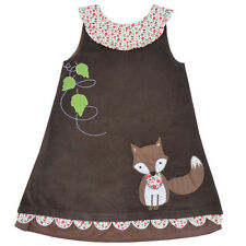 Powell Craft Brown Couduroy Pinnafore with Fox applique 1/2 years