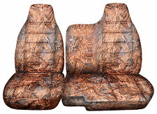 FRONT SET CAR SEAT COVERS FORD RANGER # 35 60/40 bench  REEDS CAMOUFLAGE