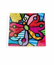 ROMERO BRITTO GLASS PLATE : BUTTERFLY ** NEW **
