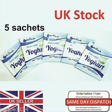 5x sachets Yoghurt Yogurt Starter Culture.Bio Natural Home Made Bulgaria Yoghurt