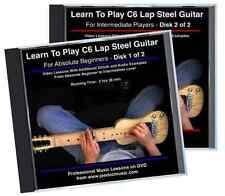 Learn To Play C6 Lap Steel Guitar: Absolute Beginners To Intermediate 2 DVD Set