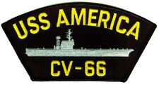 USS America CV-66 embroidered patch US Navy aircraft carrier