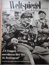 WELTSPIEGEL 42- 1950 General MacArthur Benares Indien Korea Krieg Radio-Programm