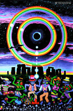 Psy Art Eclipse Stonehenge UV Black Light Fluorescent Glow In The Dark Poster