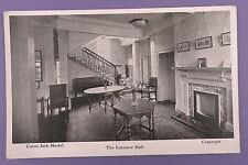 Union Jack Hostel, Military Club, London - The Entrance Hall -  Old Postcard