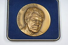 Jimmy Carter High Relief Bronze Large Size Inaugural Medal w/Box