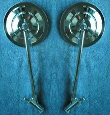 """5"""" Ribbed 1935-1947 Ford Truck  New Larger Size Mirrors Pair 1939 1946 Hinge Pin"""