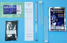 Kit turbo yeast 20%, Super-Kleer KC, carbon, hydrometer