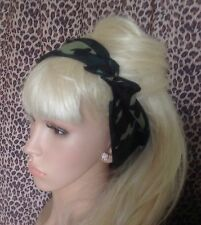 NEW GREEN ARMY CAMO CAMOUFLAGE COTTON BANDANA HEAD HAIR NECK SCARF URBAN PIN UP