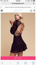 For Love and Lemons X FREE PEOPLE JOLENE Laced Up Corset Embroidered Dress L