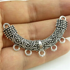 14291*15PCS Beauty a half Moon Pendant Connector Alloy Antique Silver Vintage