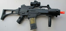 Auto Electric Airsoft Gun G36C Style w/Metal Laser, Crosshair Scope, Flash Light