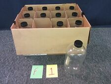 12 LAB ROUND FLINT GLASS BOTTLES 32oz CLEAR SCIENCE CONTAINER EQUIPMENT NEW