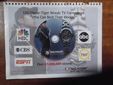 Super RARE Tag Heuer TV Ad DVD on Original CO-OP Book page 2004