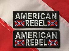 Patch morale AMERICAN REBEL FUN FLAG gift CHRISTMAS FUN NOVELTY you get 2 #562
