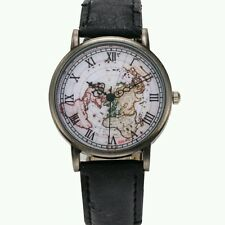 Unisex Watch World Map Design Analog Quartz military Casual Wristwatch
