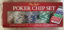 NEW Play Right Poker Chip Set FREE SHIPPING