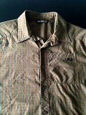 ARCTERYX Olive Green Plaided Cotton Blend Button Up  Short Sleeve Shirt - M